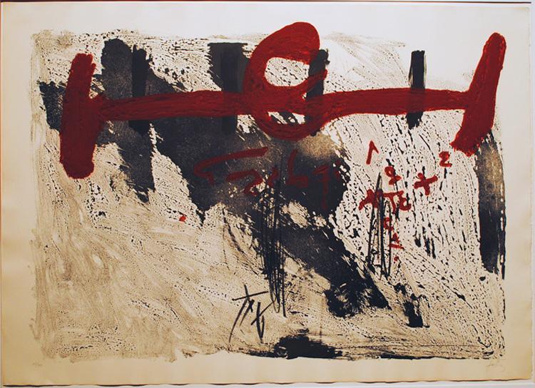 Antoni Tapies – Taches et chiffres