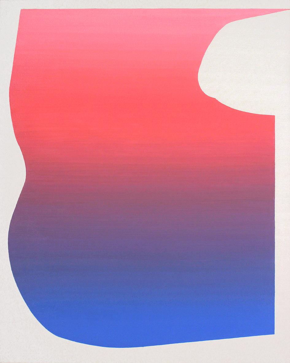Felix Baudenbacher- Large gradient 2- oil on canvas
