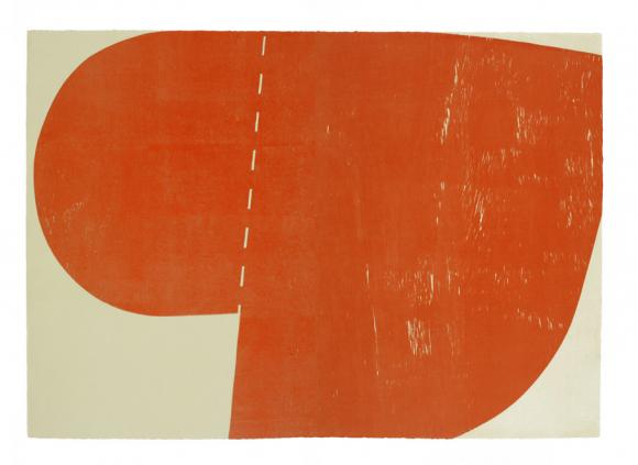 Richard Gorman big orange woodblock ed40 2013
