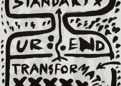 A.R. Penck-Standart transformation -litho E.A.-70×70-1990