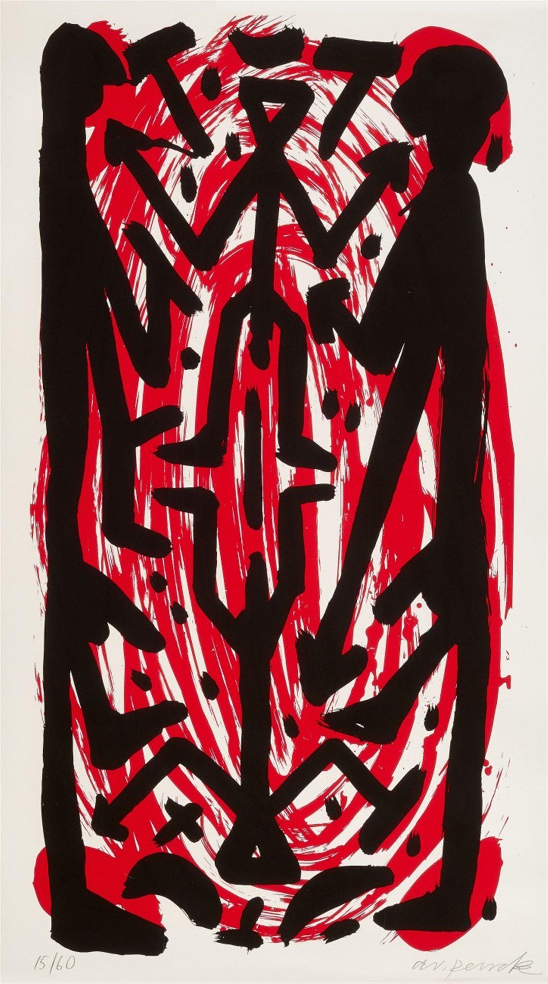 A.R. Penck-Standart hoch B-litho 10/60-110×160-1997