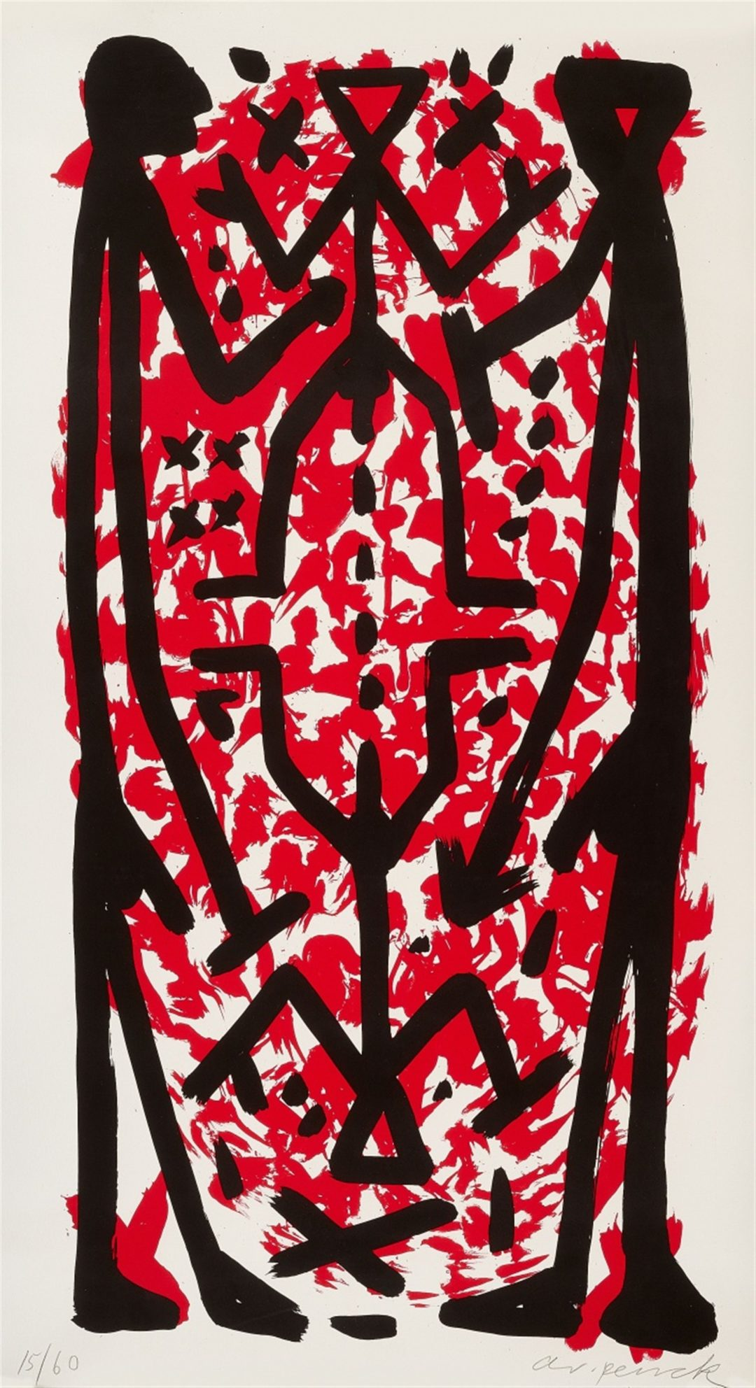 A.R. Penck-Standart hoch C-litho 10/60-110×160-1997