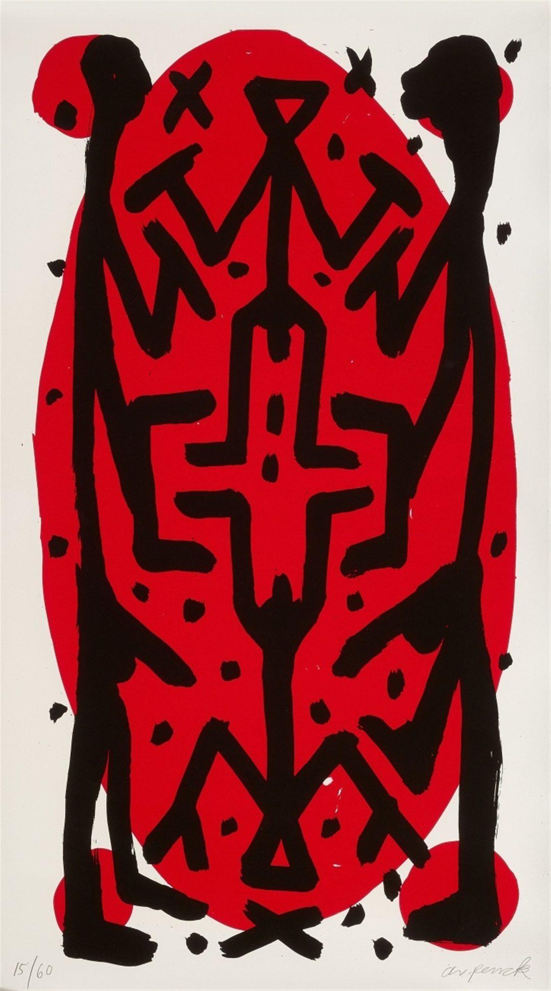 A.R. Penck-Standart hoch A-litho 10/60-110×160-1997