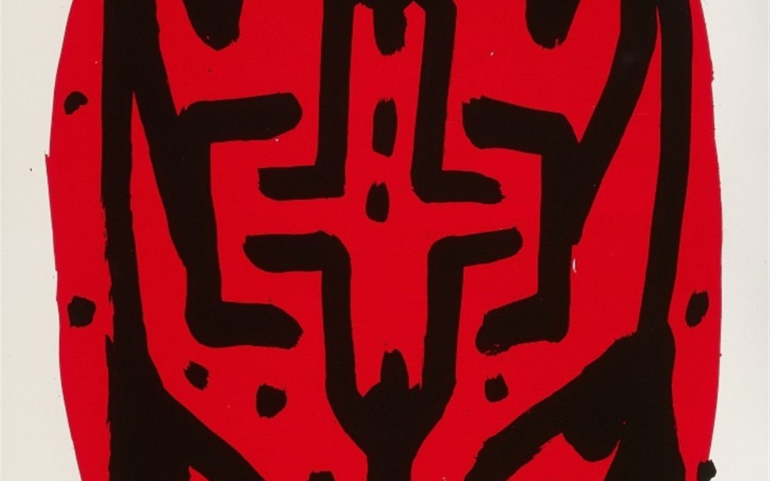 A.R. Penck- Standart hoch A- litho 10/60-110×60-1997