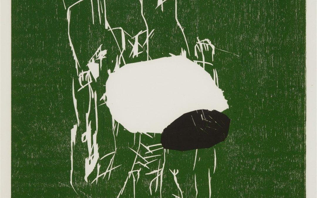 Georg Baselitz-litho /30- Fuenf Steine- houtsnede- 105×77- 1991