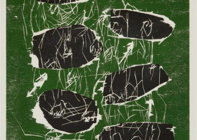 Georg Baselitz-litho /30- Sechs Steine- houtsnede- 105×77- 1991