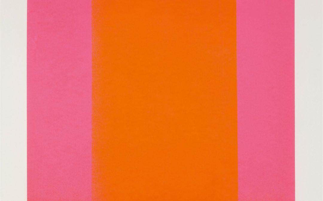 Rupprecht Geiger- litho /50- Leuchtorange auf leuchtrot from farbsequenzen- 60×60- 1966