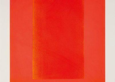 Rupprecht Geiger- litho /50- Rot auf leuchtrot from farbsequenzen- 60×60 1966