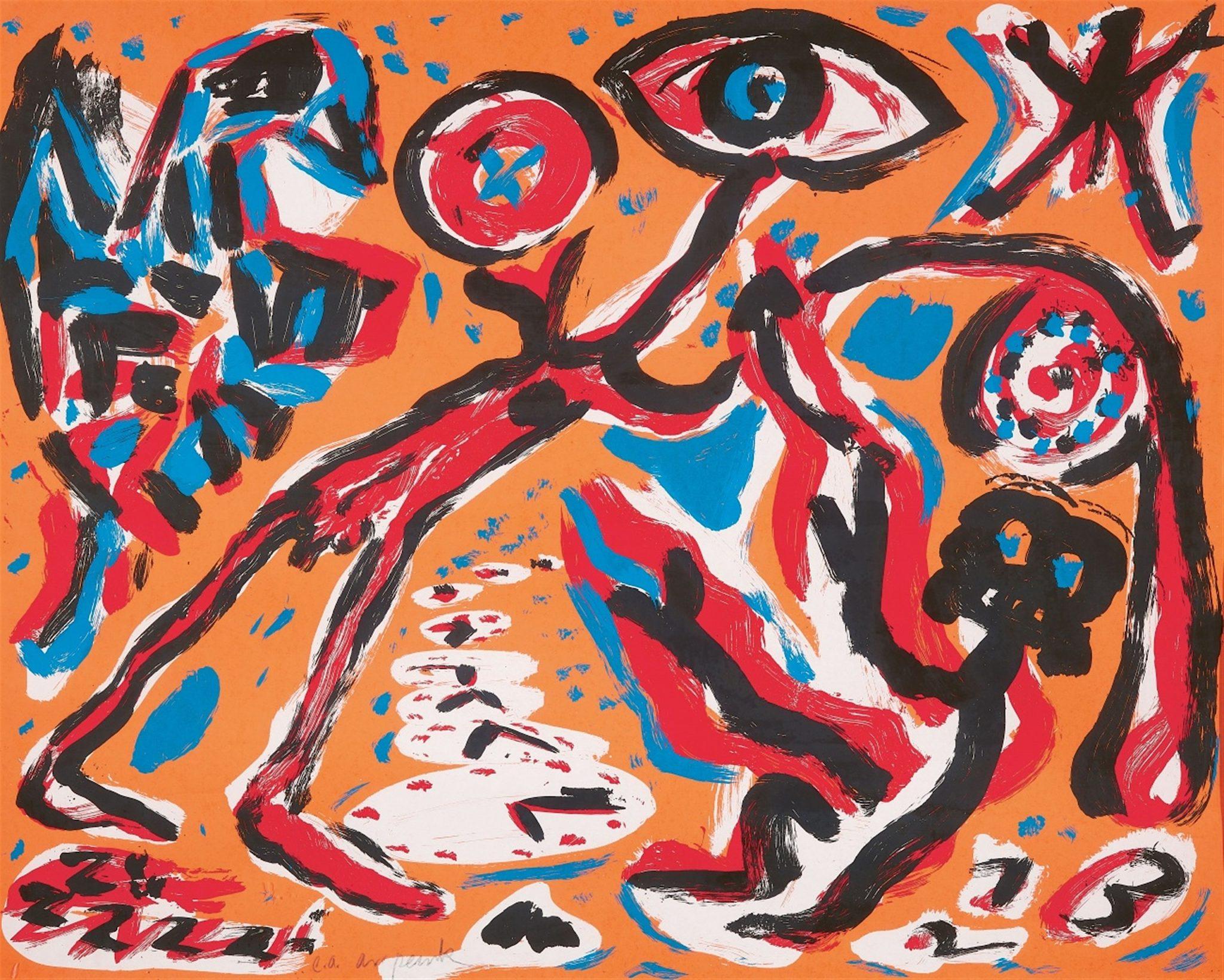 A.R. Penck silkscreen /55 90X110